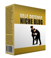 Latest Self Defense Flipping Niche Blog Template with private label rights