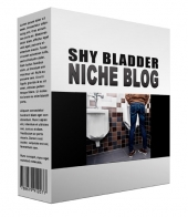 New Shy Bladder Flipping Niche Blog Template with private label rights