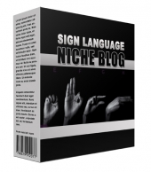 New Sign Language Flipping Niche Blog Template with private label rights