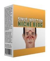 New Sinus Infection Flipping Niche Blog Template with private label rights