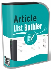 Article List Builder Software with Master Resell Rights