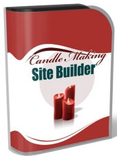 Candle Making Site Builder V2 Software with Master Resell Rights/Giveaway Rights