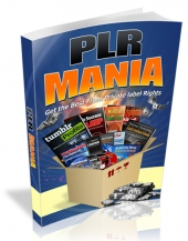 PLR Mania 2016 eBook with Resell Rights/Giveaway Rights