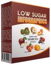 Low Sugar Infographic Graphic with private label rights