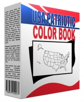 USA Patriotic Printables Coloring Book eBook with Master Resell Rights/Giveaway Rights