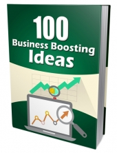 100 Business Boosting Ideas eBook with Master Resell Rights/Giveaway Rights