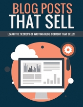 Blog Posts That Sell eBook with Private Label Rights