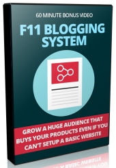 F11 Blogging System Video with Private Label Rights