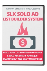 SLX Solo Ad List Builder System Video with Private Label Rights