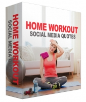 Home Workout Fitness Social Quotes Images eBook with private label rights