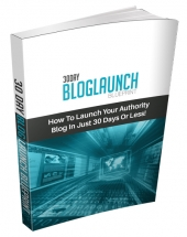30 Day Blog Launch Blueprint eBook with Personal Use Rights
