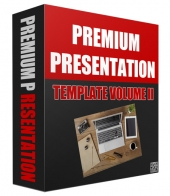 New Premium Presentation Template Version II Graphic with private label rights