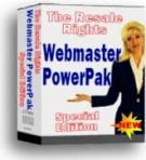 Webmaster PowerPak : Special Edition eBook with private label rights