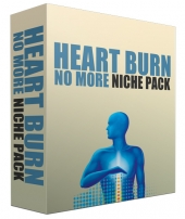 Heart Burn No More Complete Niche Site Pack Template with Personal Use Rights