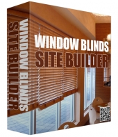 Window Blinds Site Builder Software Software with Master Resell Rights/Giveaway Rights