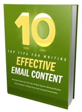 10 Tips For Effective Email Content eBook with Master Resell Rights/Giveaway Rights