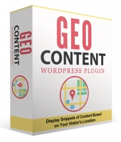 GeoContent WordPress Plugin Software with Personal Use Rights