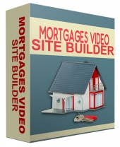 Mortgages Video Site Builder Software with Master Resell Rights/Giveaway Rights