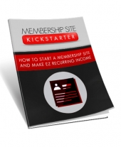 Membership Site Kickstarter eBook with Master Resell Rights/Giveaway Rights