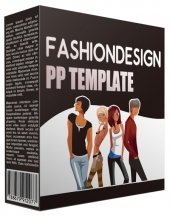 Fashion Design Multipurpose Powerpoint Template Graphic with private label rights