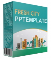 Fresh City Multipurpose Powerpoint Template Graphic with Personal Use Rights