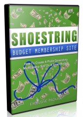 Shoestring Budget Membership Site Video Upgrade Video with Master Resell Rights/Giveaway Rights