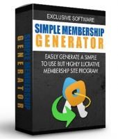 Simple Membership Generator Software with Master Resell Rights/Giveaway Rights