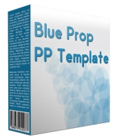 Blue Prop Multipurpose Powerpoint Template Graphic with private label rights