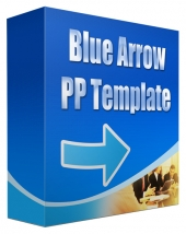 Blue Arrow Multipurpose Powerpoint Template Graphic with Personal Use Rights