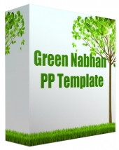 Green Nabhan Multipurpose Powerpoint Template Graphic with Personal Use Rights