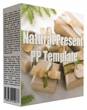 Natural Present Multipurpose Powerpoint Template Graphic with private label rights
