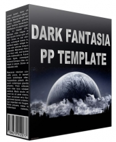 Dark Fantasia Power Point Template Graphic with Personal Use Rights