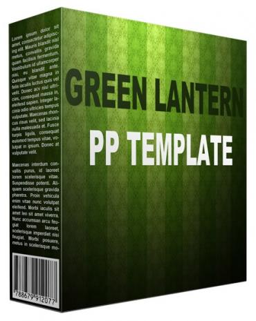 Green Lantern Multipurpose Powerpoint Template