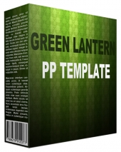 Green Lantern Multipurpose Powerpoint Template Graphic with Personal Use Rights