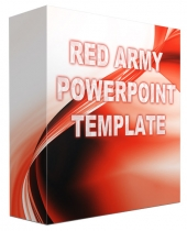 Red Army Multipurpose Powerpoint Template Graphic with Personal Use Rights