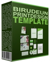 Birudeun Print Design Template Graphic with Personal Use Rights