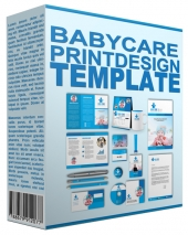 Baby Care Print Design Template Graphic with private label rights