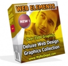 Web Elements Deluxe Web Design Graphics Collection Graphic with Master Resale Rights