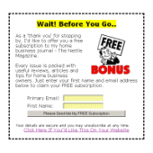 Exit Message Template Wizard Template with Resell Rights
