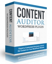 Content Auditor WordPress Plugin Software with Personal Use Rights