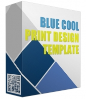 Blue Cool Print Design Template Graphic with Personal Use Rights