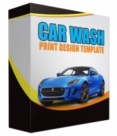 Car Wash Print Design Template Graphic with Personal Use Rights