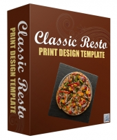 Classic Resto Print Design Template Graphic with Personal Use Rights