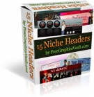 15 Niche Headers Package Graphic with Resell Rights