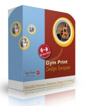 Gym Print Design Template Template with Personal Use Rights
