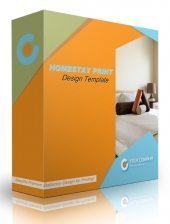 Homestay Print Design Template Graphic with Personal Use Rights