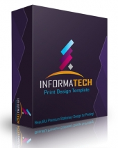 Informa Tech Print Design Template Graphic with Personal Use Rights