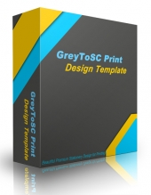 GreyToSC Print Design Template Graphic with Personal Use Rights