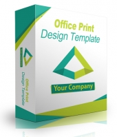 Office Print Design Template Graphic with Personal Use Rights