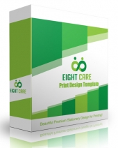 Eight Care Print Design Template Graphic with Personal Use Rights